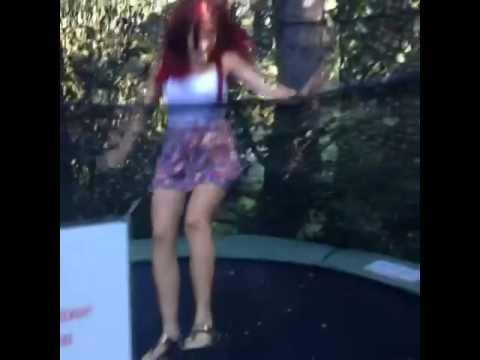 Carla Howe bouncing around