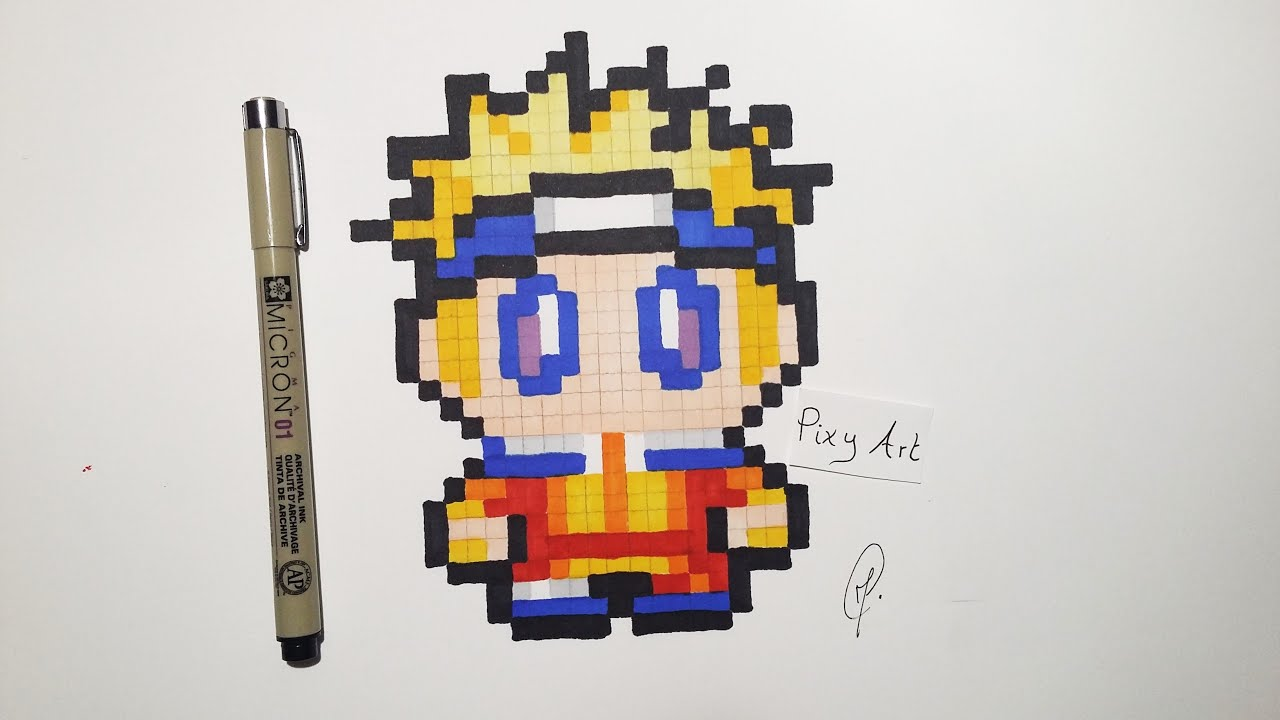 Naruto Easy Drawing Pixel Art
