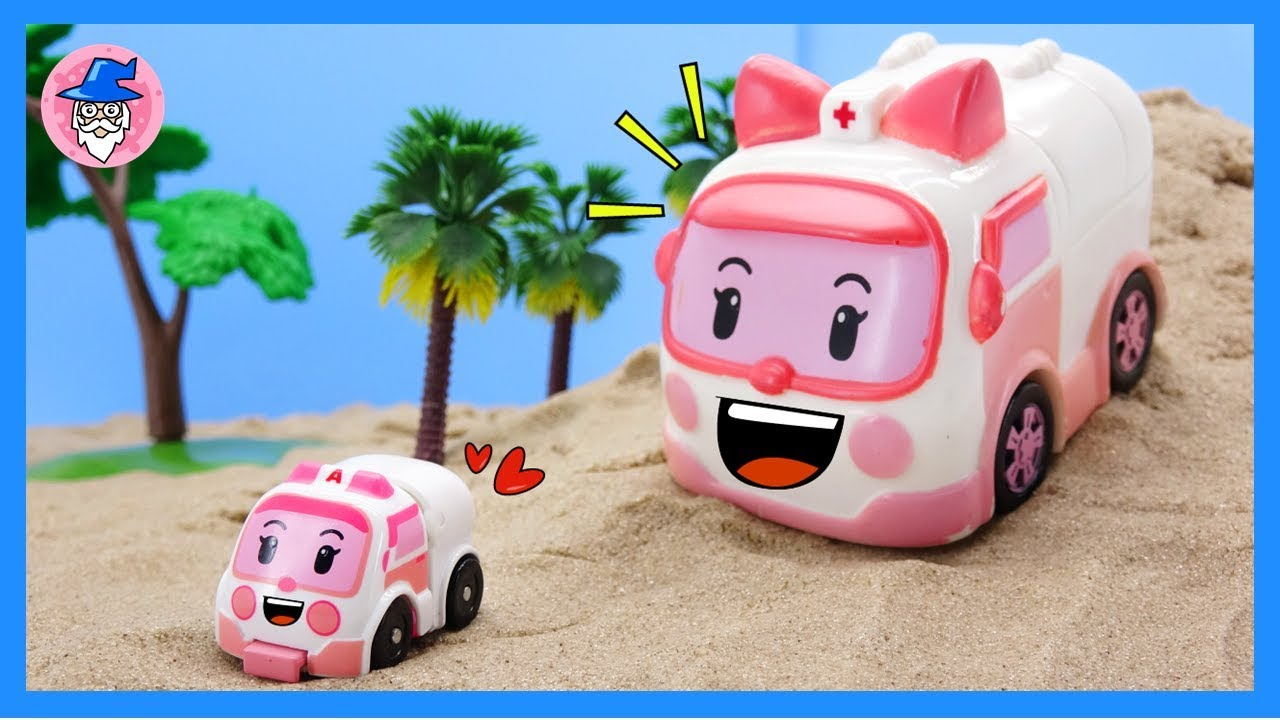 Robocar poli amber has become smaller it is a rescue mission in amber mini base youtube - Robocar poli ambre ...