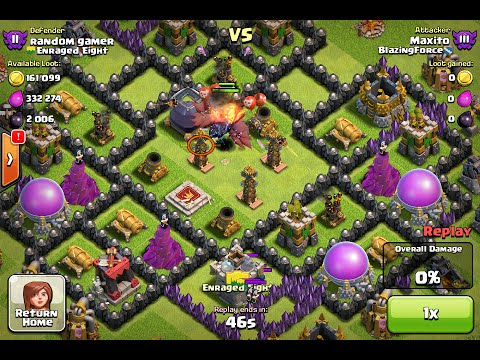Clash of Clans Epic TH8 Trolling Base Win
