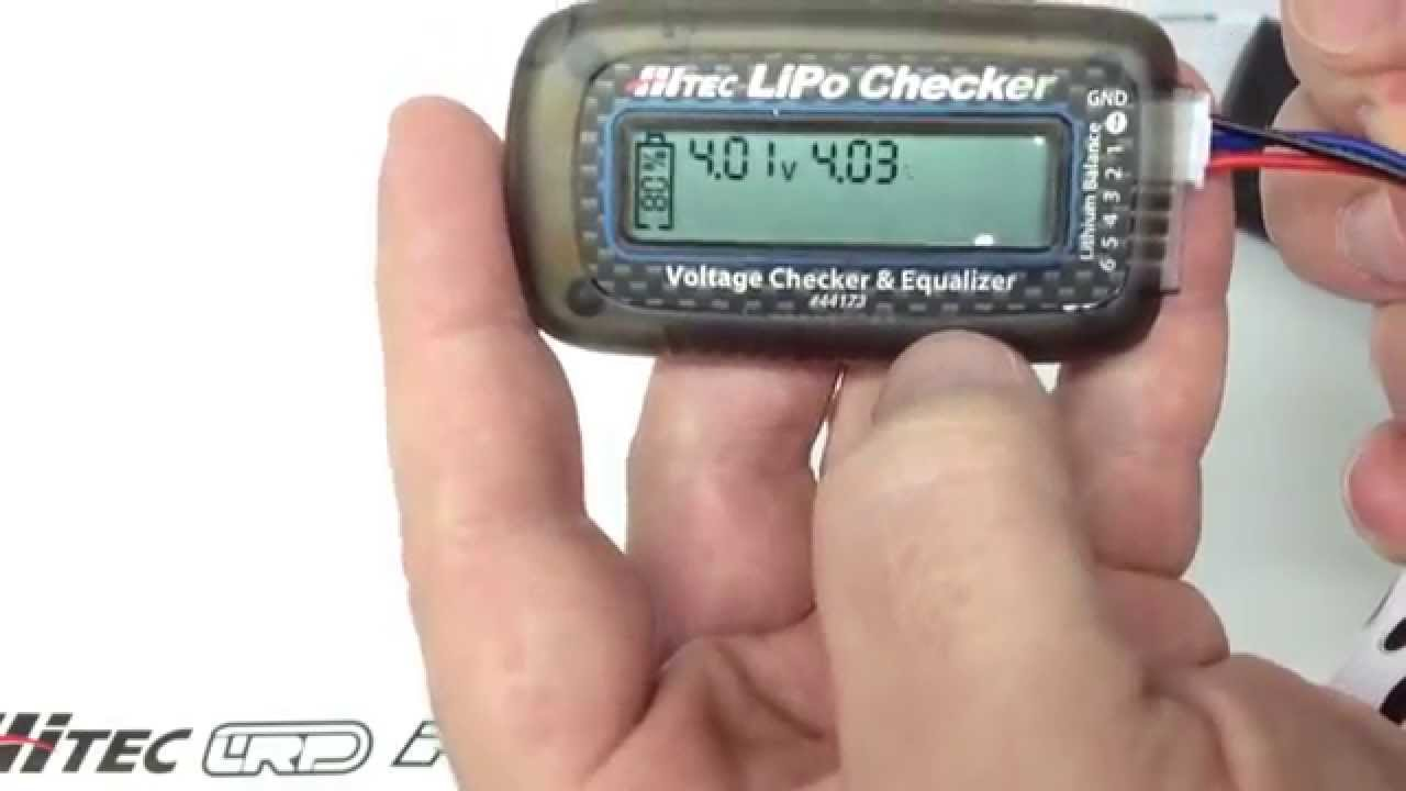 Hitec RCD LiPo Battery Checker with Built-in Balancer