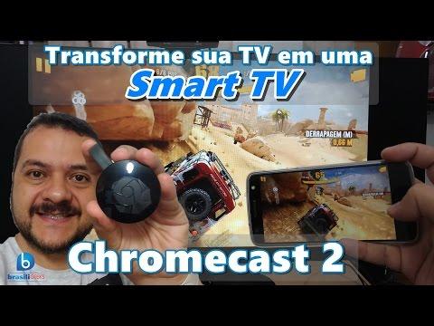 Chromecast 2 - Transforme sua TV numa Smart TV! Impressões e Configuração