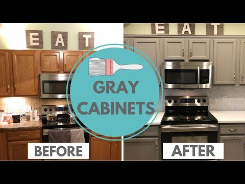 Painting Gray Kitchen Cabinets | Kitchen Renovation