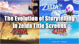 The Evolution of Storytelling in The Legend of Zelda Title Screens