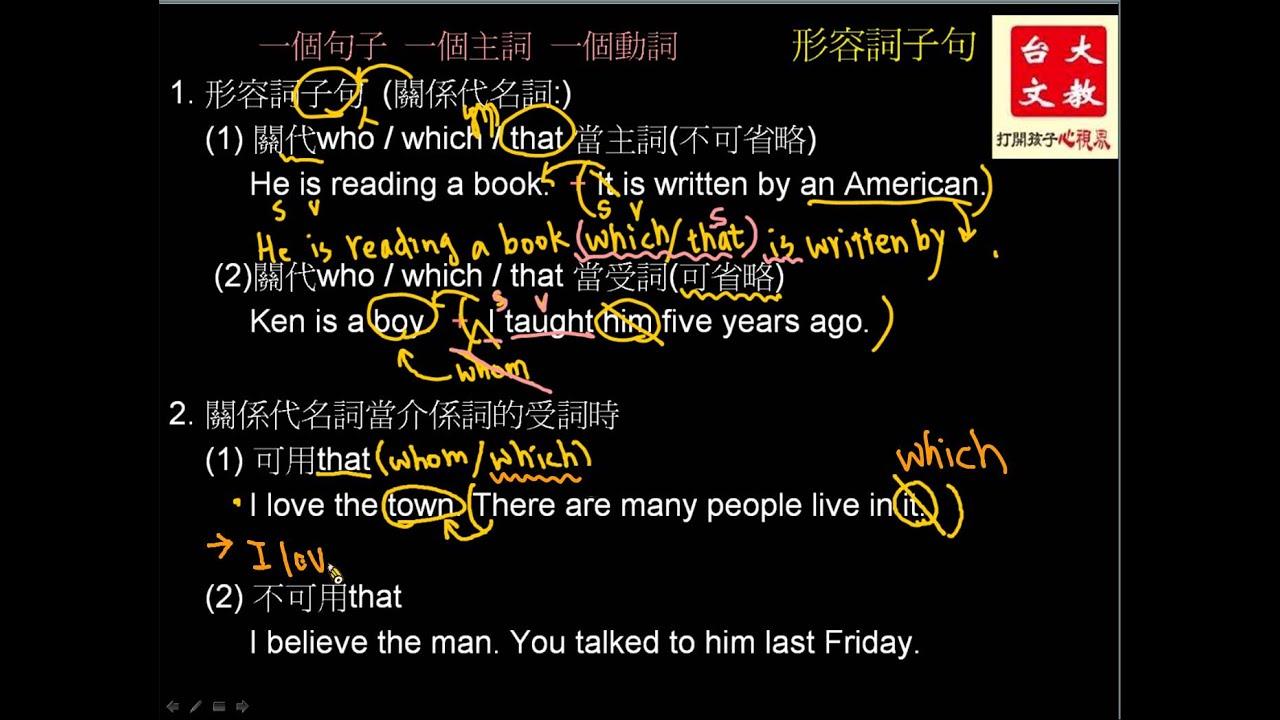 薛寶英語 九上形容詞子句關代可省 - YouTube