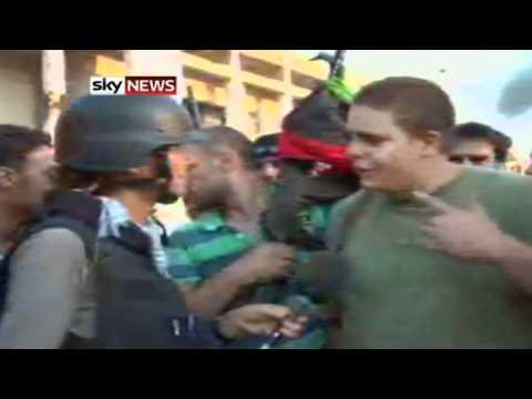 Sky's Alex Crawford Inside Gaddafi's Compound