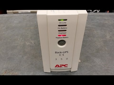 How to replace a battery in an APC Back-UPS CS 350