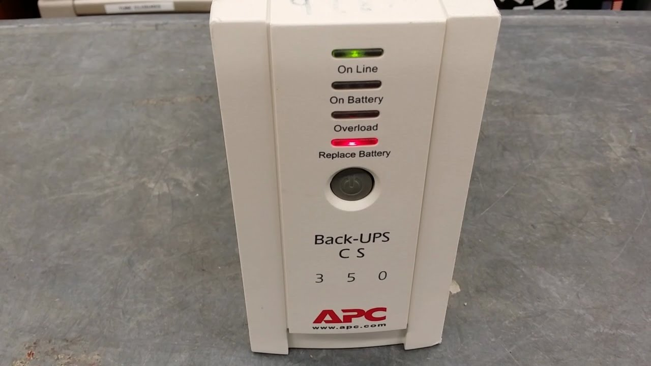 how to replace a battery in an apc back ups cs 350 [ 1280 x 720 Pixel ]