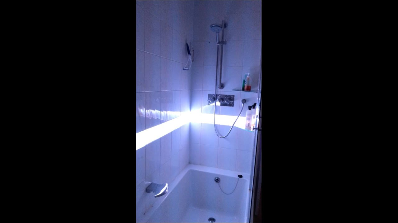 RGB LED shower lighting - YouTube