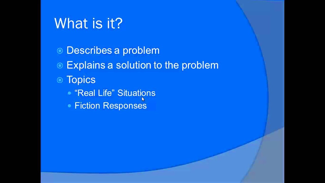 problem solution structure essay