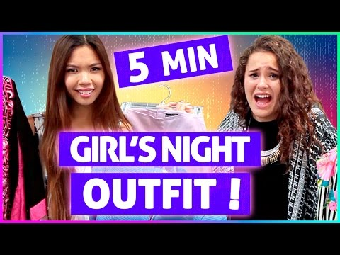 5 MINUTE NIGHT OUT OUTFIT CHALLENGE! | Vintage Revamp w/ Tiffany Ma & Ayydubs