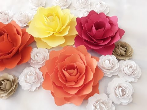 DIY Small Paper Flower Tutorial (TEMPLATE IN DESCRIPTION BOX)