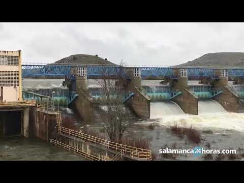 Azud de Villagonzalo tras las precipitaciones 14 de marzo 2018