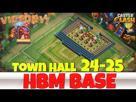 Building An HBM BASE | TOWN HALL 24-25 | #7 | CASTLE CLASH
