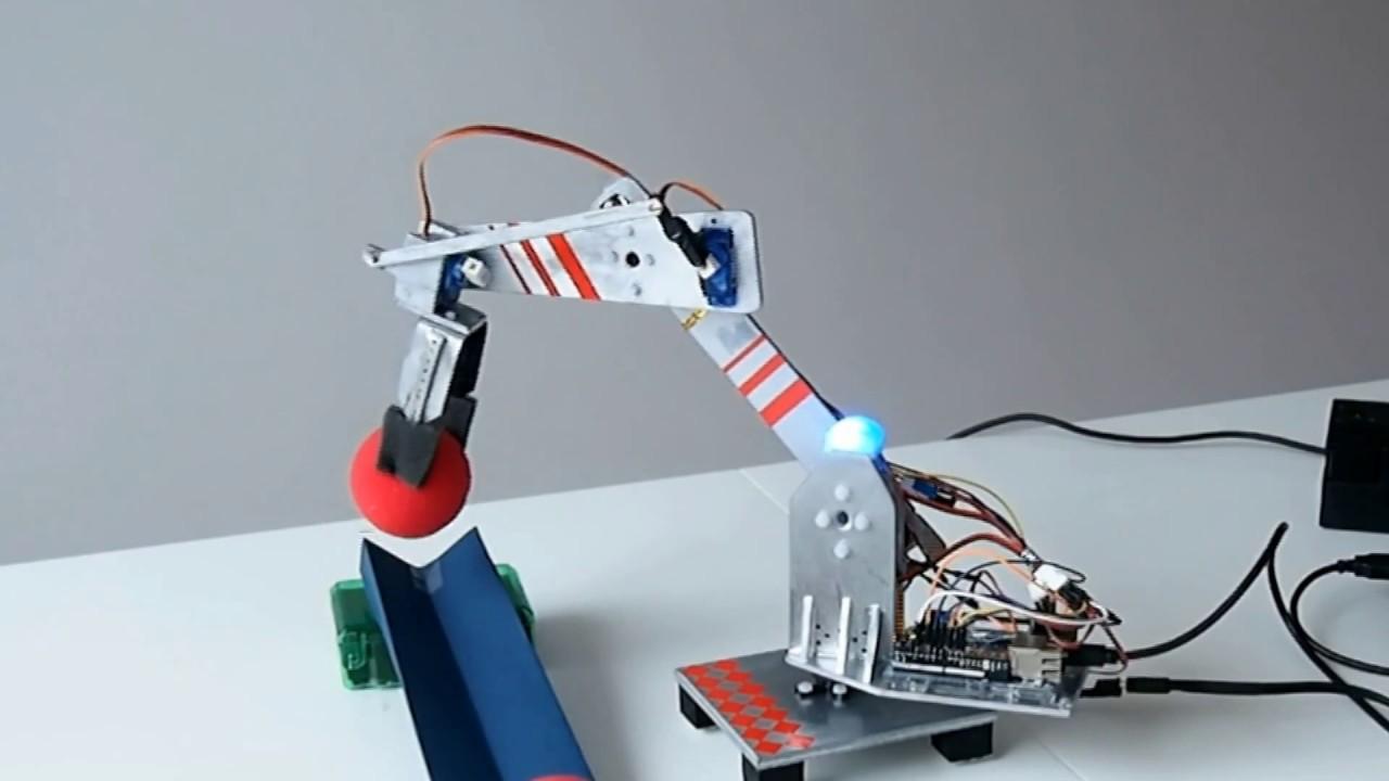 Arduino blynk robotic arm with forward kinematics youtube