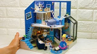 DIY Cinderella Dollhouse (Bedroom,living room,and more)