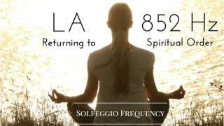 La 852 Hz pure tone Solfeggio Frequency Returning to Spiritual Order 8 Hours.mp3