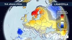 Kuukausiennuste lämpötiloista 9.6.2020