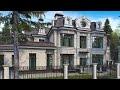 Проект двухэтажного дома с гаражом – неоклассический стиль