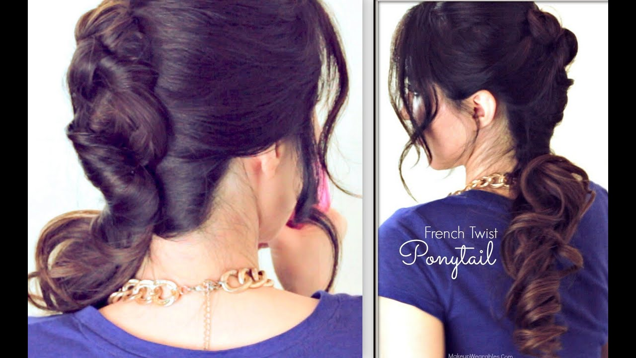 ☆ EVERYDAY FRENCH TWIST-AROUND PONYTAIL HAIRSTYLE | CUTE UPDOS FOR ...