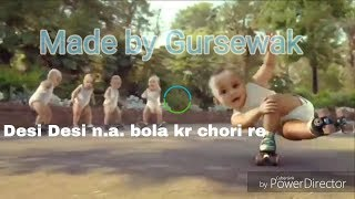 BABY dancing on Desi Desi na bola kra chori re