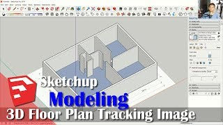 Sketchup 3d Floor Plan Tutorial With Tracking Image