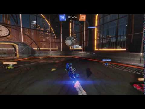 Rocket League - Sick reversed power shot (hit the post)