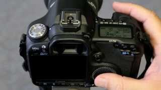 Canon 50D - Setting up manual exposure