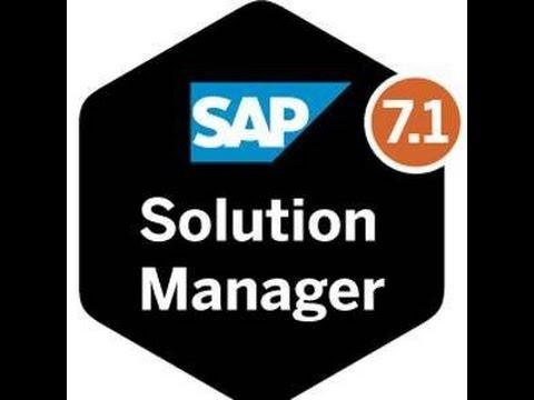 sap solution manager training sap solution manager online
