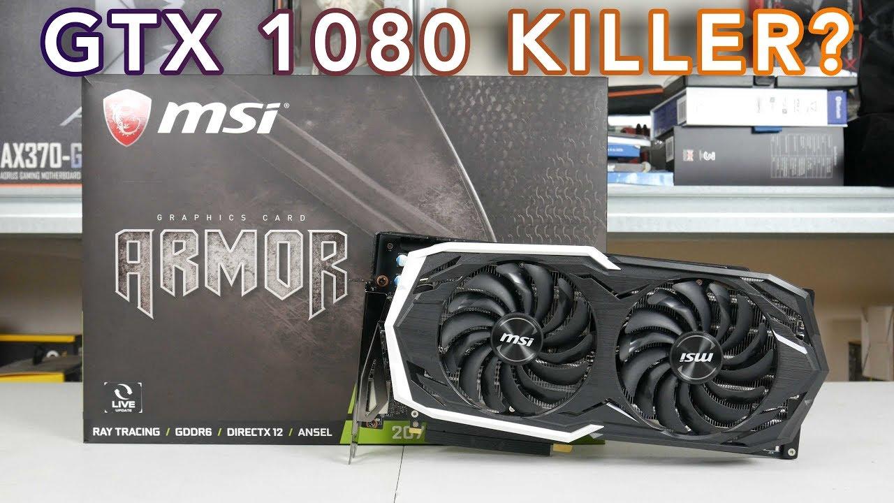 MSI RTX 2070 Armor UNBOXING - GTX 1080 killer?