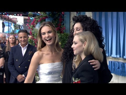 MAMMA MIA! 2 Here We Go Again WORLD PREMIERE - Meryl Streep, Cher, Lily James, Amanda Seyfried