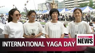 Fourth annual UN International Yoga Day celebrated in Seoul
