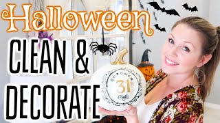 NEW! CLEAN & DECORATE WITH ME    HALLOWEEN FALL 2019 DECOR HOUSE TOUR    CLEANING MOTIVATION