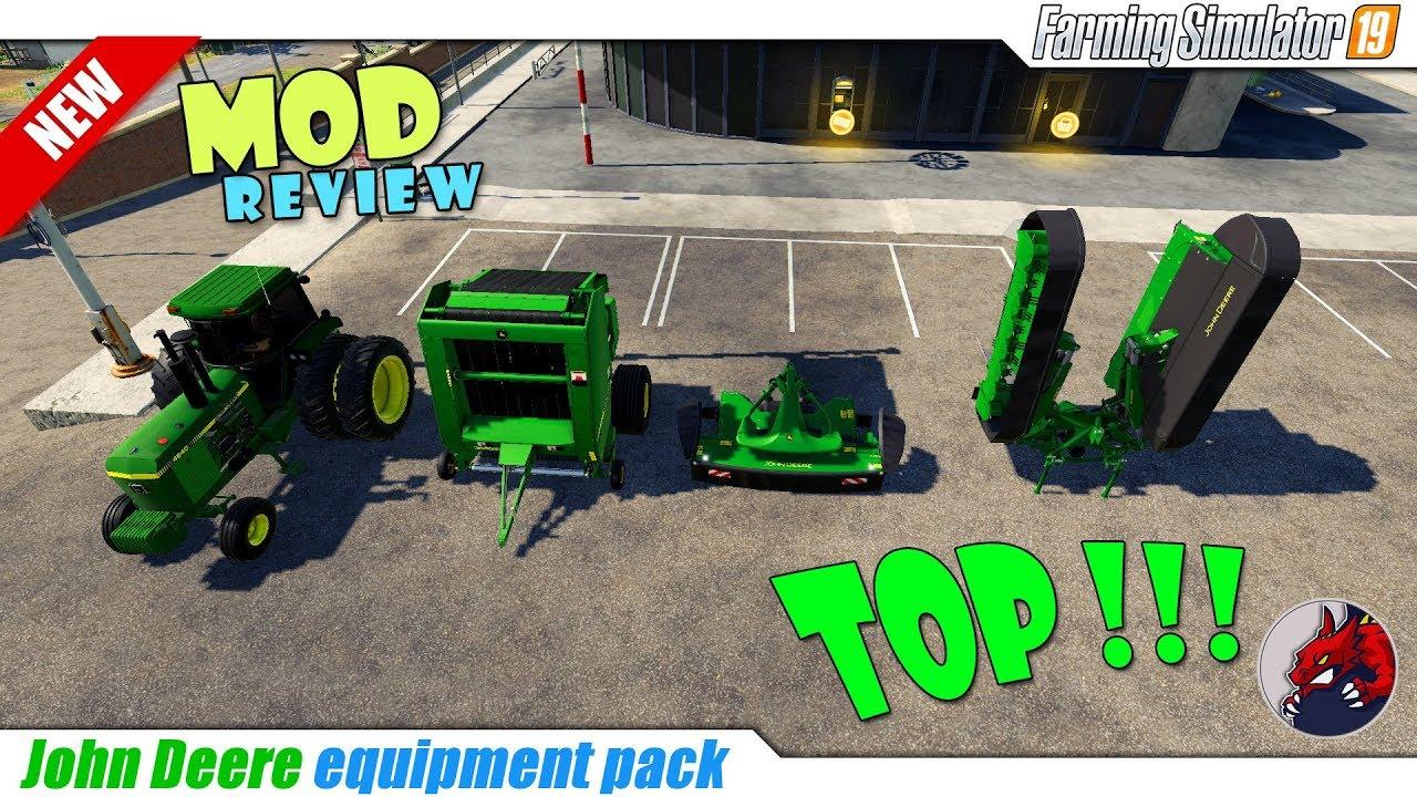 JD equipment pack v 1 0 | FS19 mods, Farming simulator 19 mods