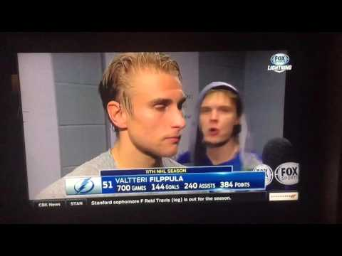 Vlad Namestnikov video bombs Filppula post-game interview -
