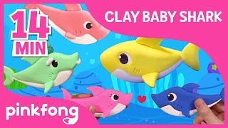 Download Video Clay Baby Shark and more   Clay Time   +Compilation   Pinkfong Crafts for Children MP3 3GP MP4