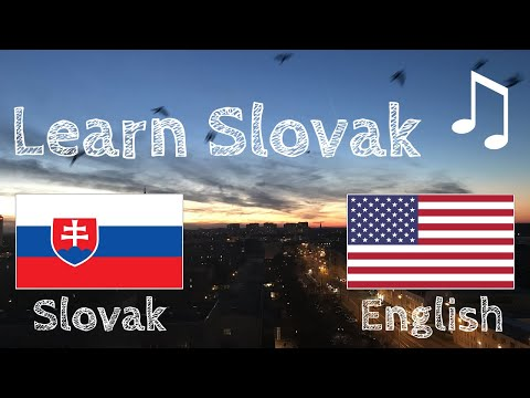Learn before Sleeping - Slovak (native speaker)  - with music