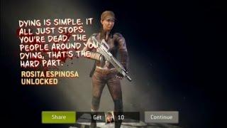 Walking Dead : No Man's Land - NEW ROSITA UNLOCKED!!!