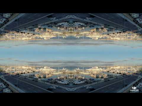 Drone Footage Of The Marina in Palma De Mallorca, Spain