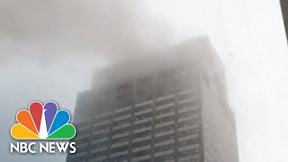 'The Helicopter Is On Fire': Witness Videos Show Response To New York City Crash | NBC News