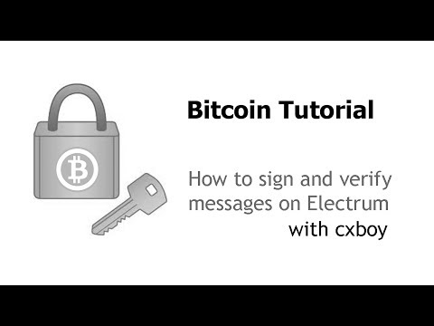 Sign And Verify Messages In Bitcoin Using Electrum 1.8.1 | Bitcoin Weekly Show