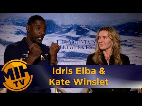 Idris Elba & Kate Winslet The Mountain Between Us Interview