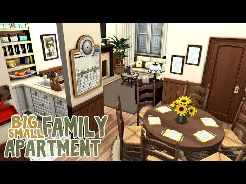 Big Family Small Apartment || The Sims 4 Apartment Renovation: Speed Build thumbnail
