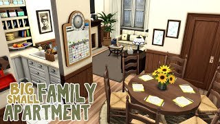 Big Family Small Apartment || The Sims 4 Apartment Renovation: Speed Build Video