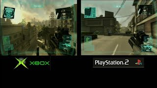 Ghost Recon Advanced Warfighter - Xbox vs PS2 Side by Side (1080p60) English Subs