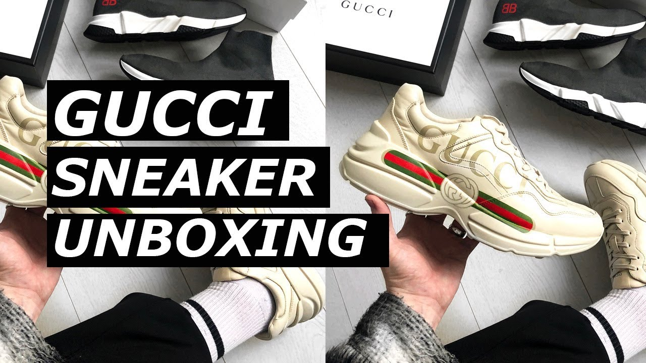 b4be46dbc3e GUCCI RHYTON SNEAKER UNBOXING + BALENCIAGA TRIPLE S COMPARISON ...