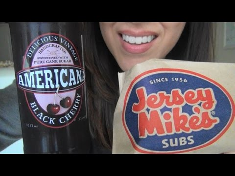 ASMR Mukbang: Eating Jersey Mike's Sandwich | Crunchy Potato Chips | Stranger Things TV Show