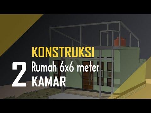 Rumah Minimalis 2 Lantai Ukuran 6x6  konstruksi rumah minimalis 6x6 2 kamar tempat tandon air