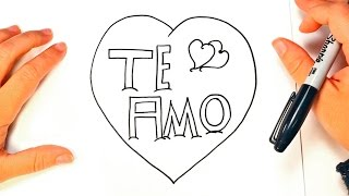 How to draw I love You in Spanish