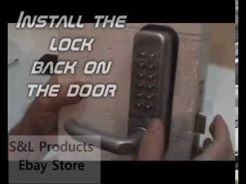 How To Install Lockey Keyless Entry Lock Doovi